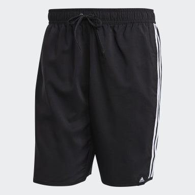Herr Simning Svart Classic-Length 3-Stripes Swim Shorts
