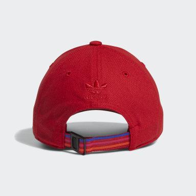Women's Originals Pink 3D Trefoil Strap-Back Hat