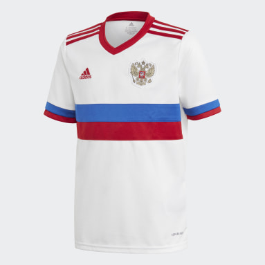 Youth 8-16 Years Football White Russia Away Jersey