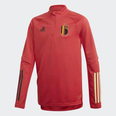 Kinder Fußball Belgien Trainingsoberteil Rot