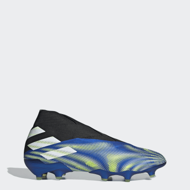 Football Blue Nemeziz+ Firm Ground Boots