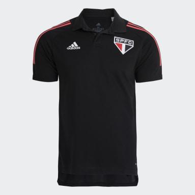 Camisa Polo São Paulo FC Preto Homem Futebol