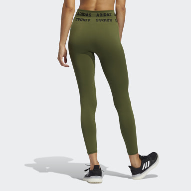 Women's Yoga Green Training Aeroknit 7/8 High-Rise Tights