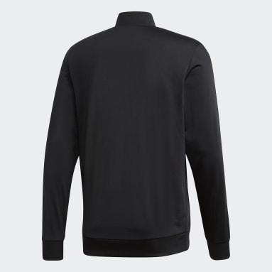 Casaca Deportiva Essentials Tricot 3 Tiras Negro Hombre Essentials
