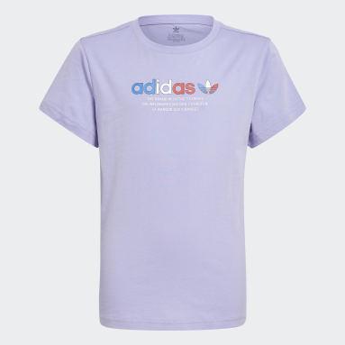 Camiseta Adicolor Graphic Violeta Niño Originals