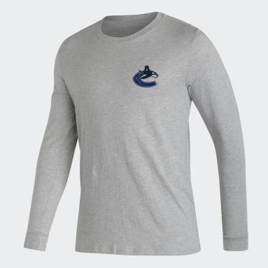 T-shirt Canucks Long Sleeve gris Hommes Hockey