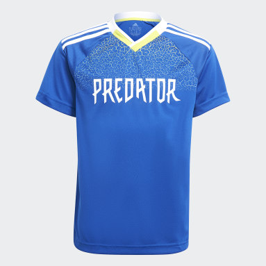 Youth Training Blue Predator Football-Inspired Jersey