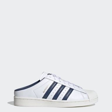 Men Originals White Superstar Mules