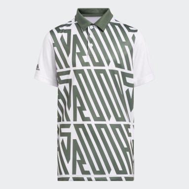 Boys Golf Grøn Printed polotrøje