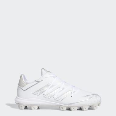 Men's Baseball White Afterburner 7 MD Cleats