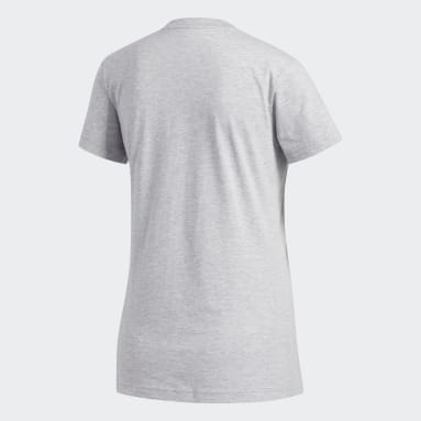 Women's Essentials Grey Badge of Sport Tee