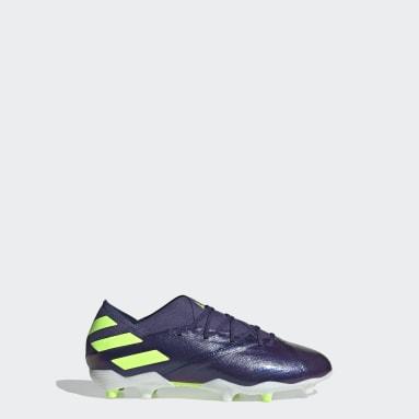 Boys Fotboll Blå Nemeziz Messi 19.1 Firm Ground Boots