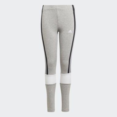 Meisjes Sportswear Grijs adidas Essentials Colorblock Legging
