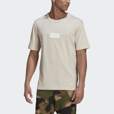 Men Originals Beige R.Y.V. Silicone Badge Tee