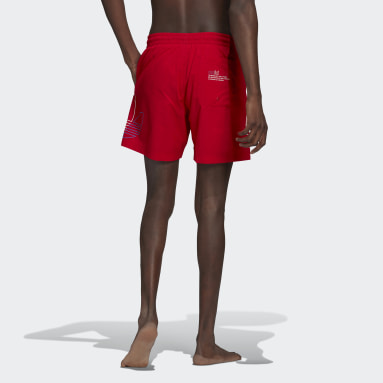 Men Originals Red Adicolor FTO Swim Shorts