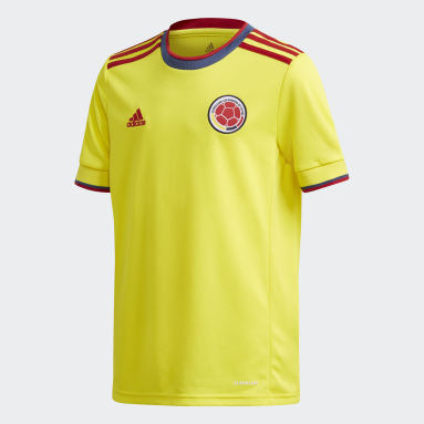 Kids Football Yellow Colombia Home Jersey
