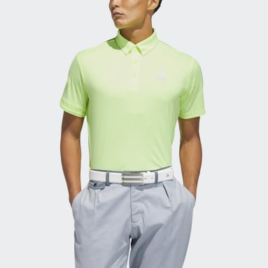 Men Golf Yellow Polo Shirt