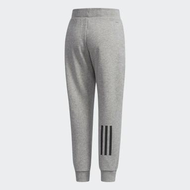 Pantalon French Terry Gris Garçons Fitness Et Training