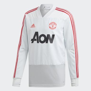 Men Football Grey Manchester United Training Top