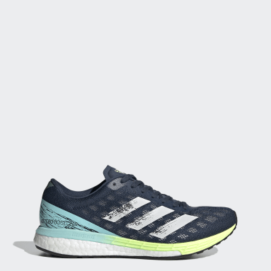 Women Running Blue Adizero Boston 9 Shoes