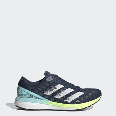 Sapatos Adizero Boston 9 Azul Mulher Running