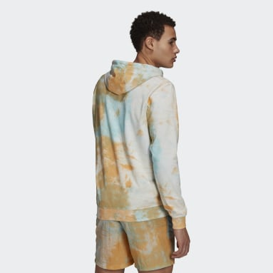 Men Sportswear Orange Essentials Tie-Dyed Inspirational Hoodie