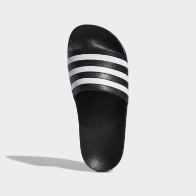 Women Essentials Black Adilette Aqua Slides
