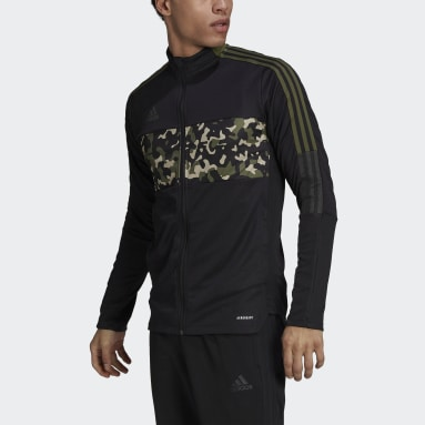 Men Football Black Tiro Graphic Track Top
