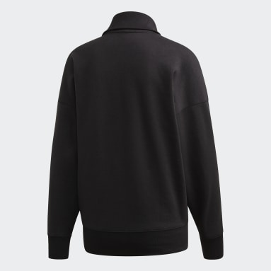 Women Originals Black Half-Zip Sweatshirt