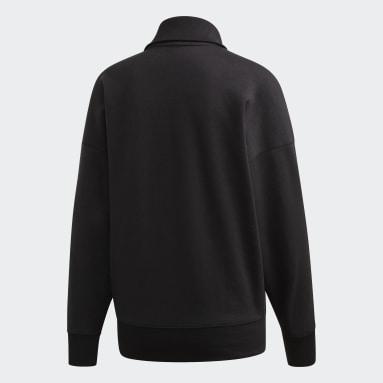 Frauen Originals LOUNGEWEAR Half-Zip Sweatshirt Schwarz