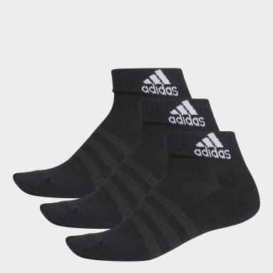 Training Siyah Yastıklamalı Bilek Boy Çorap - 3 Çift