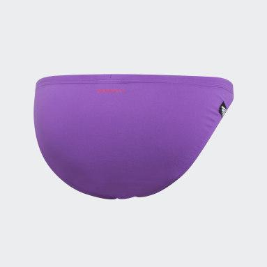 Bas de bikini Pro Solid Violet Femmes Natation