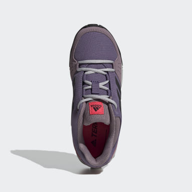 Children TERREX Purple Terrex Hyperhiker Low Hiking Shoes