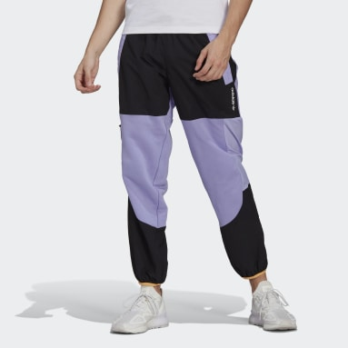 Calça Moletom adidas Adventure Colorblock Mixed Material Roxo Homem Originals