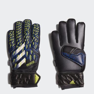 Gants de gardien de but Predator Match Fingersave noir Adolescents Soccer