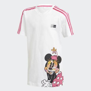 Conjunto Verão Minnie Mouse Branco Meninas Training