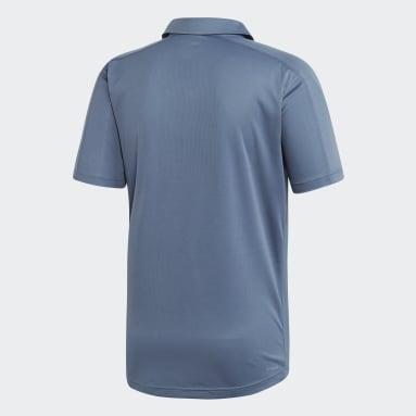 Men Training Blue Design 2 Move Climacool Polo Shirt