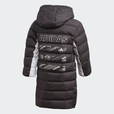 Long Down Jacket Czerń
