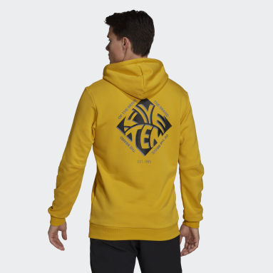 Men Five Ten Yellow Five Ten Graphic Hoodie
