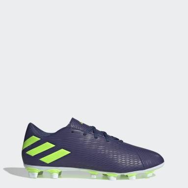 Women Football Blue Nemeziz Messi 19.4 Flexible Ground Boots
