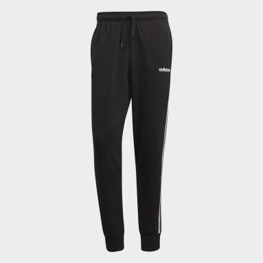 Pantalón Cónico Puño Ajustado Essentials 3 Tiras Negro Hombre Running