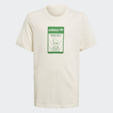 T-shirt de Algodão de Produção Biológica Tinkerbell Disney Branco Criança Originals
