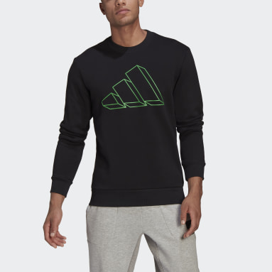 Men Sportswear Black adidas Sportswear Graphic Crew Sweatshirt