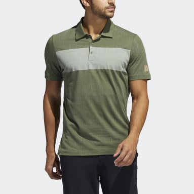 Men's Golf Green Adicross Desert Print Polo Shirt
