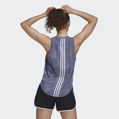 Women Running Purple Own The Run Primeblue Running Tank Top