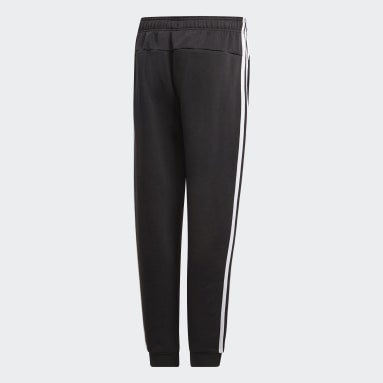 Calça Essentials 3-Stripes Preto Meninos Training
