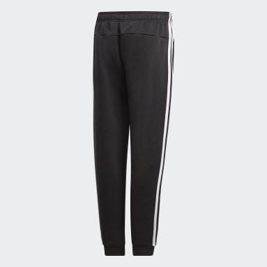 Pants Essentials 3 Franjas Negro Niño Lifestyle