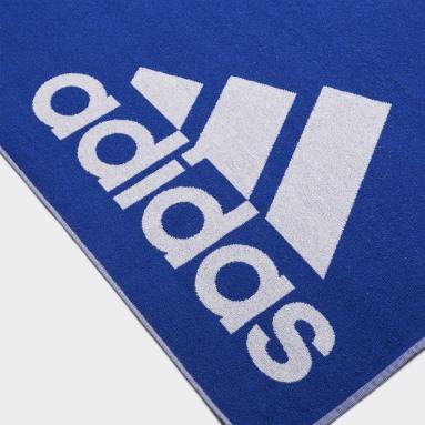 adidas håndkle, stort Blå