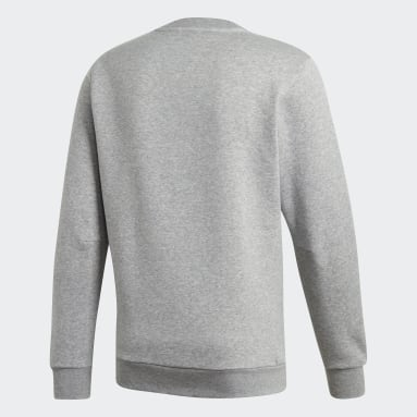 Sweat-shirt Must Haves Badge of Sport gris Hommes Essentials