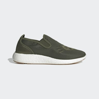 Men's Originals Green Human Made Pure Slip-On Shoes